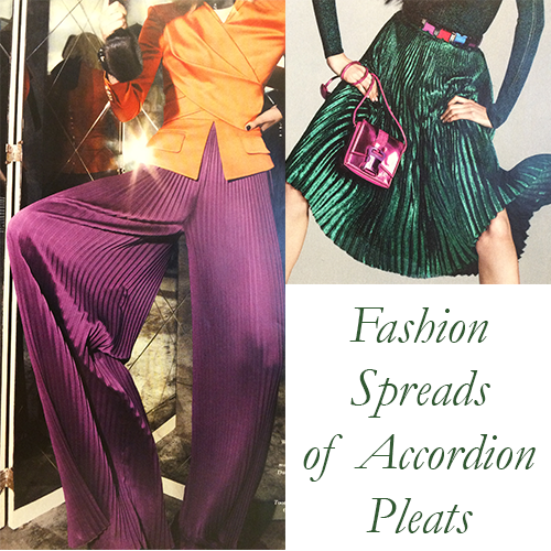fashion spreads of accordion pleats
