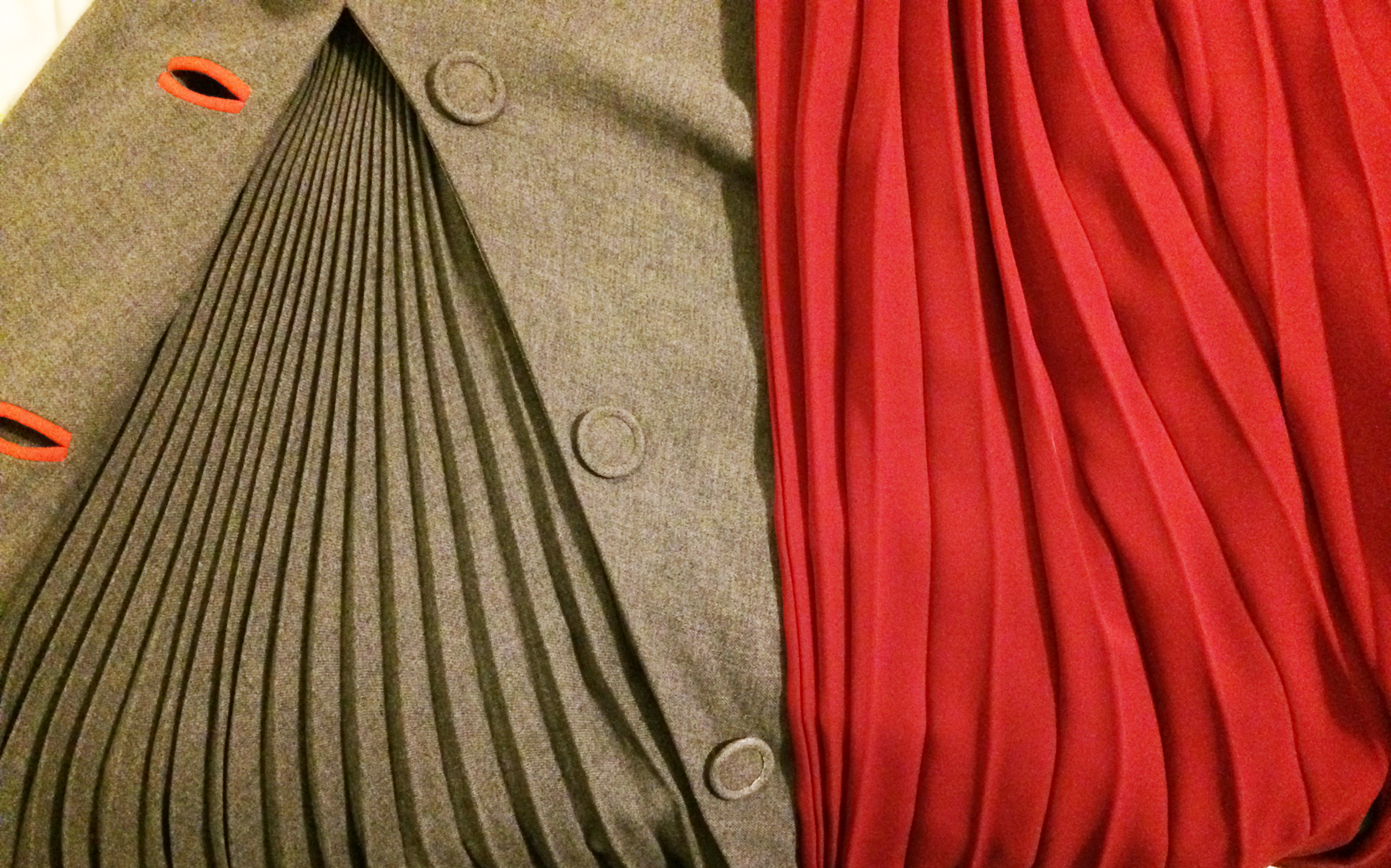 vintage and new accordion pleats