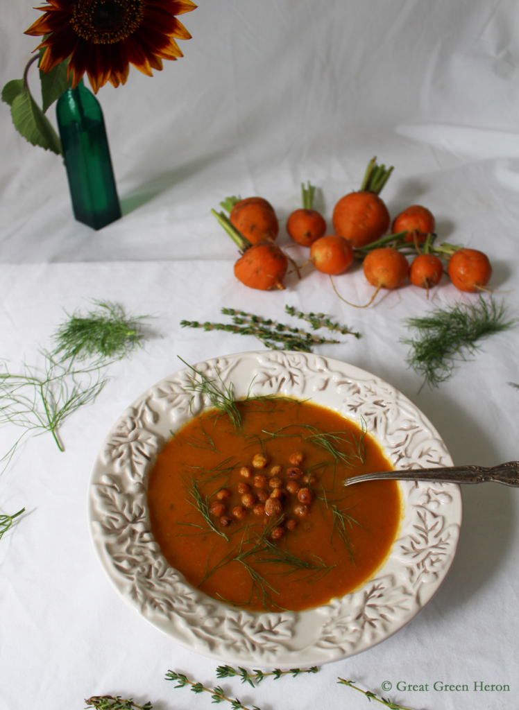 Thyme-Infused Carrot and Fennel Soup