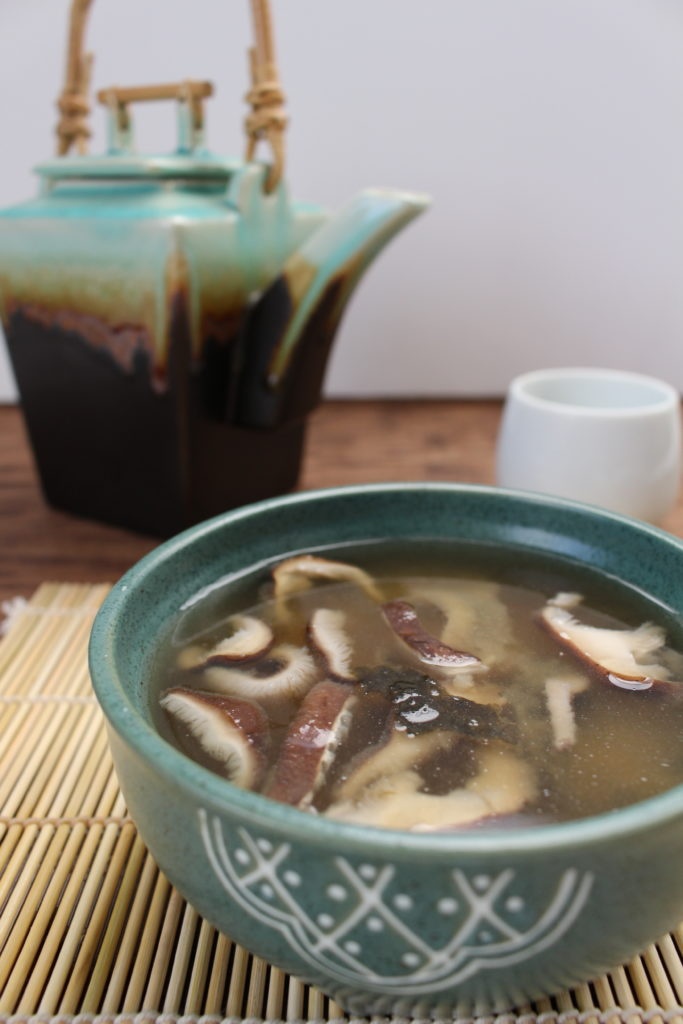 Vegan Miso Soup with Shiitake Mushrooms